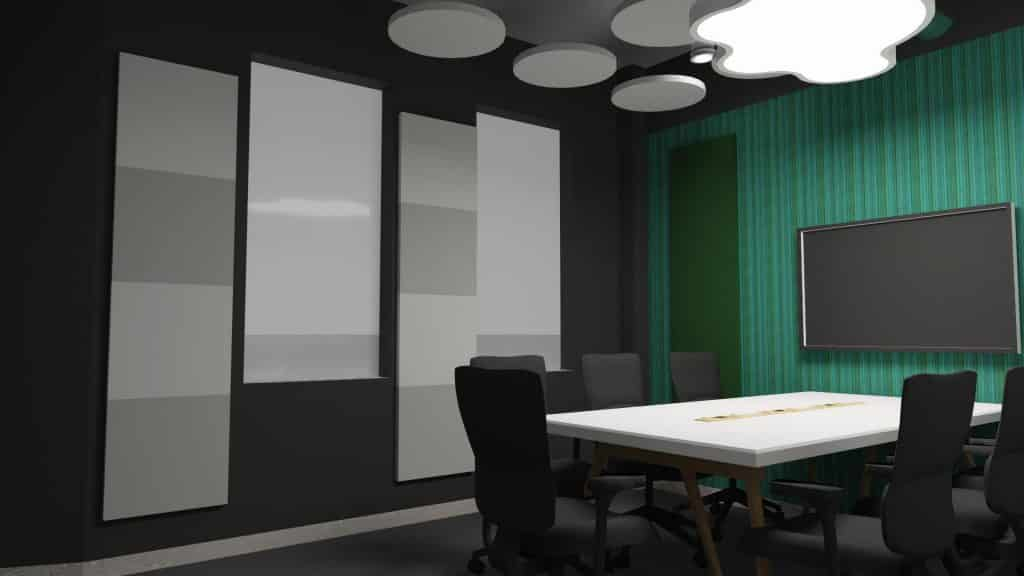 Acoustic treatment solutions meeting rooms 1