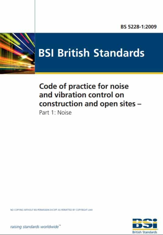 Construction noise assessment - bs 5228