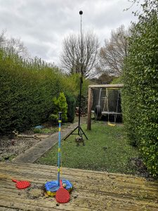 Noise surveying tripod, we think it's tall enough!