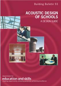 BB93 Acoustic design of schools